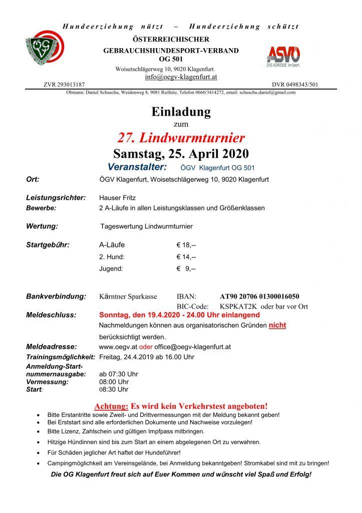 ABGESAGT - 27. Lindwurmturnier 1