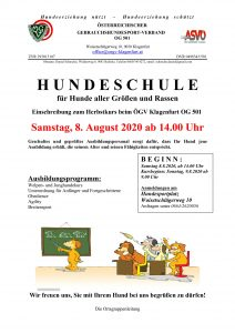 ÖGV Klagenfurt Kurseinschreibung Herbst 2020